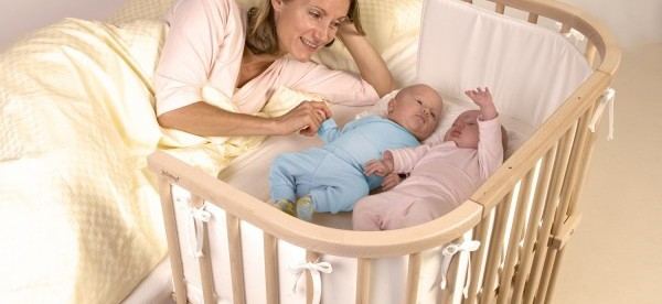 Postieľka a dve bábätká