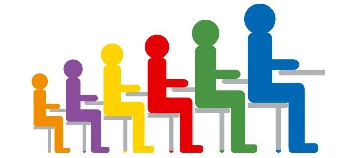 Rôzne veľkosti detských stoličiek